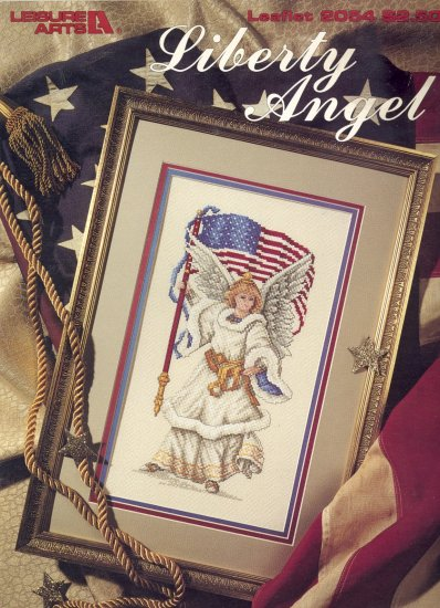 Liberty Angel by Carol Emmer ~ Cross-stitch Booklet ~ 1991