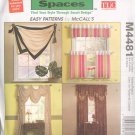 Window Essentials ~ Trading Spaces Pattern McCall's 4481 ~ 2004