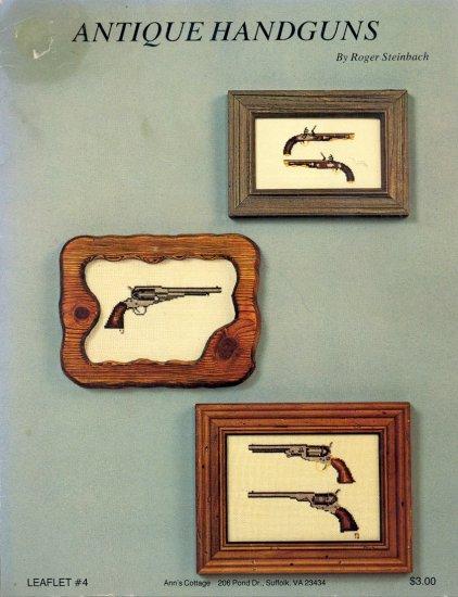 Antique Handguns by Roger Steinbach ~ Cross-stitch Booklet ~ 1977