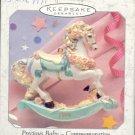 Hallmark Spring Ornament ~ Precious Baby Commemorative ( World of Wishes ) 1999