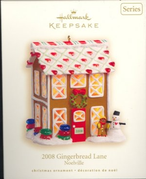 Hallmark Ornament ~ Gingerbread Lane 2008 ~ Noelville Series