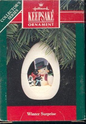 Hallmark Ornament ~ Winter Surprise 1992 ~ Penguins
