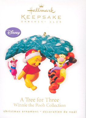 Hallmark Ornament ~ A Tree for Three ( Winnie the Pooh ) 2010 ~ Club Exclusive