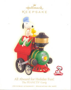Hallmark Ornament ~ All Aboard for Holiday Fun! ( The Peanuts Gang - Snoopy ) 2009