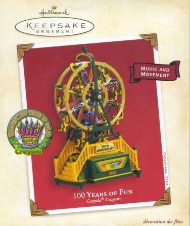 Hallmark Ornament ~ 100 Years of Fun 2003 ~ Crayola Crayon
