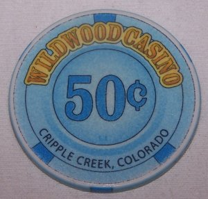Wildwood Casino $.50 Chip Cripple Creek, CO.