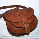 Caramel Leather Bag Messenger Shoulder Crossbody Bag Goldmann size S