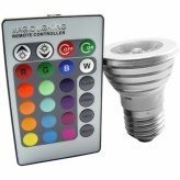 3 LED Color Changing Light Bulbs with Wireless Remote