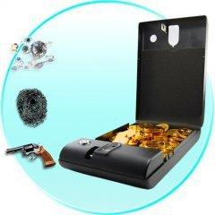Portable Security Box - Executive Biometric Fingerprint Safe