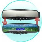 Bluetooth Car Rearview Mirror (MP3 Player, FM Radio, Mini-LCD)