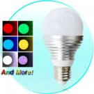 3 LED Color Changing Light Bulbs - 16 Color LED Lamp with Remote