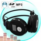 3 Folding Headphones w/MP3 Player - Wireless Audio Gadget