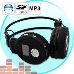 3 Folding Headphones w/MP3 Player - Wireless Audio Gadget