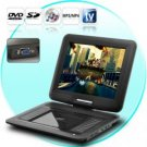 Portable DVD Player with 12.1 Inch Swivel Screen and Copy Function