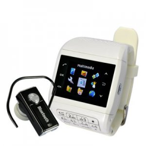 "Mobile Phone Watch with Keypad ""Quartz"" - Dual SIM, Touch Screen, Bluetooth Headset"