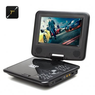 7 Inch Portable DVD Player - Game, Copy, eBook, 270 Degree Rotating Screen, SD Card Support