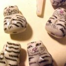Cat 6 Ceramic Grey Tabby Beads