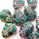 Frog 5 Cloisonne Silver Style Bead