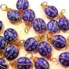 Ladybug 3 Large Cloisonne Blue Pendant Beads
