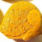 Turtle Cinnabar Mustard Style Bead