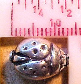 Ladybug Sterling Silver 2 Beads