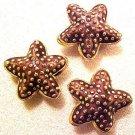 Starfish 5 Purple Cloisonne Beads