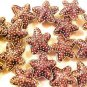 Starfish 5 Purple Cloisonne Beads
