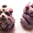 Dog Bulldog 4 Clay Beads