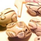 Frog Carved Bone Bead Style #2