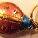 Ladybug 4 Cloisonne Red Blue Head Pendant Beads