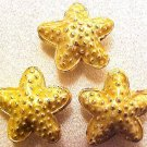 Starfish 5 Goldenrod Cloisonne Beads
