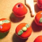 Tomato 8 Porcelain Beads