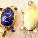 Turtle Pendant Blue Wiggle Head Legs