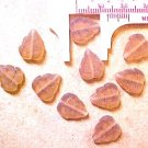 Leaves 25 Brown Satin Glass Beads