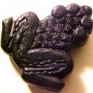 Frog Black Cinnabar Style Bead