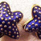 Starfish 5 Blue Cloisonne Beads