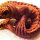 Lizard Carved Sitting Ojime Button