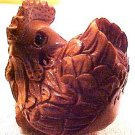 Chicken Hen Carved Ojime Bead