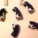 Penguin Teeney 4 Clay Beads