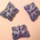 Butterfly 10 Cadet Blue + Silver Color Glass Beads