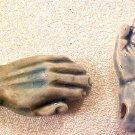 Hand 4 Raku Porcelain Beads