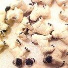 Dog Pug 4 Pottery Beads