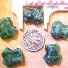 Frog 8 Malachite Glass Beads