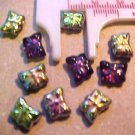Butterfly 12 Mini Purple + Irridescent Beads