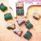 Butterfly 12 Mini Green + Copper Glass Beads