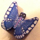 Butterfly 7 Blue Fimo Clay Beads