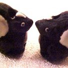 Skunk 4 Hand Painted Pottery Beads