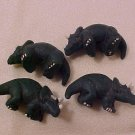 Dinosaur Triceratops 3 Clay Beads