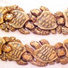 Turtle Sea Carved Large Horn Foursome Bead