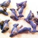 Bird Blue Jay 4 Pottery Beads